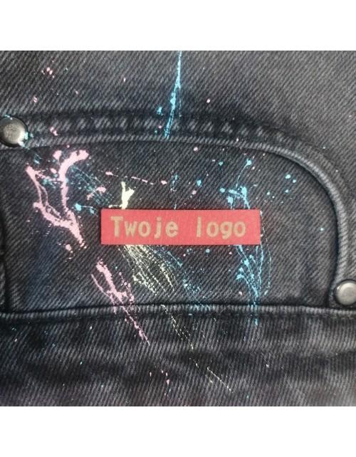10 Szt - Wszywki Z Twoim Logo - Prostokątne Bez Dziurek