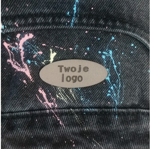10 Szt - Wszywki Z Twoim Logo - Owalne Bez Dziurek