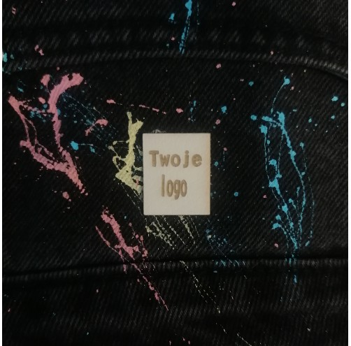 10 Szt - Wszywki Z Twoim Logo - Kwadratowe Bez Dziurek